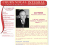 Cours vocal integral Jean Lafor?t